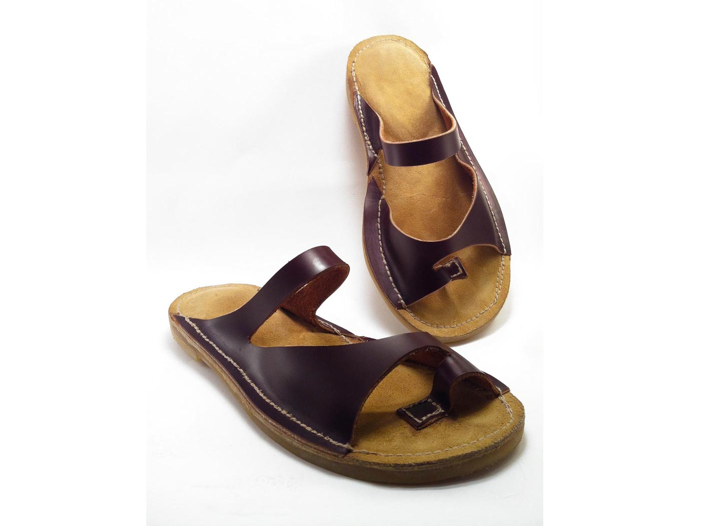 "Tailored leather sandals ""SIRA"""
