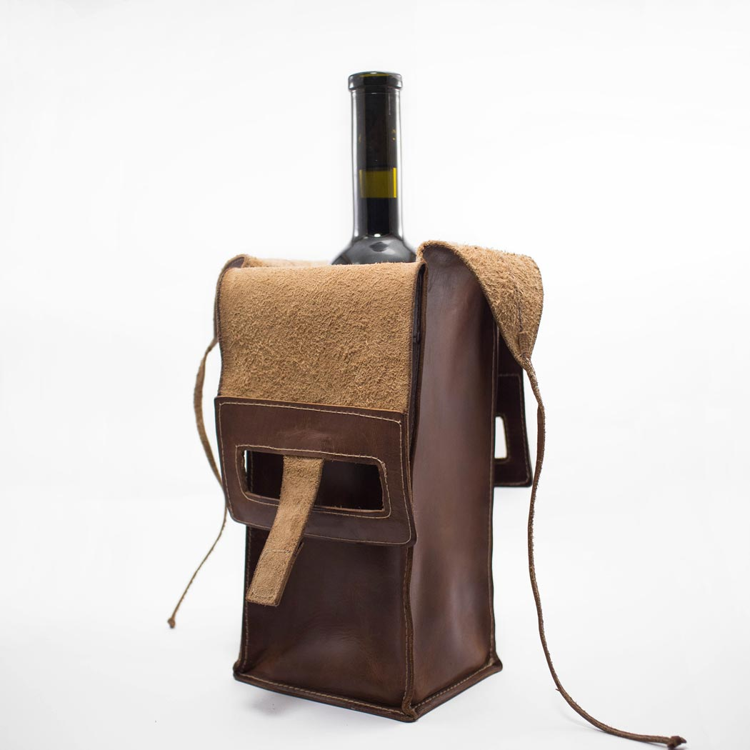 "Wine leather bag ""MILANO"""