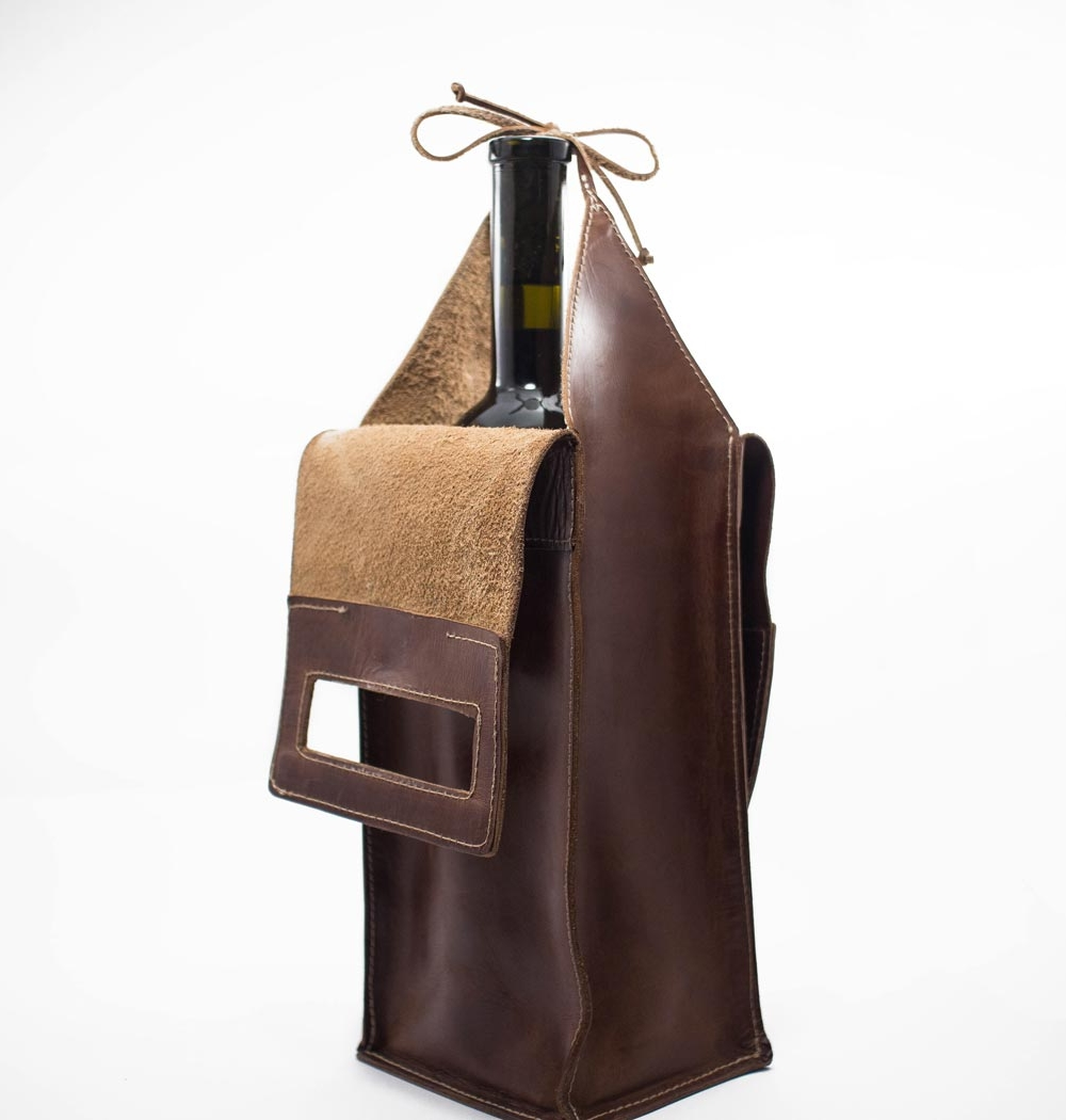 "Wine leather bag ""MILANO"""