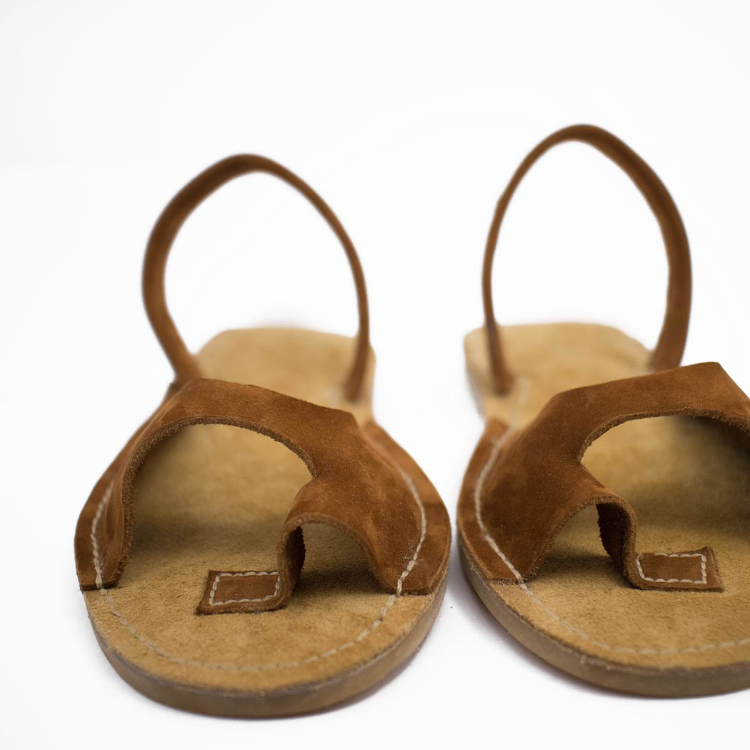 "Tailored leather sandals ""EMBAT"""