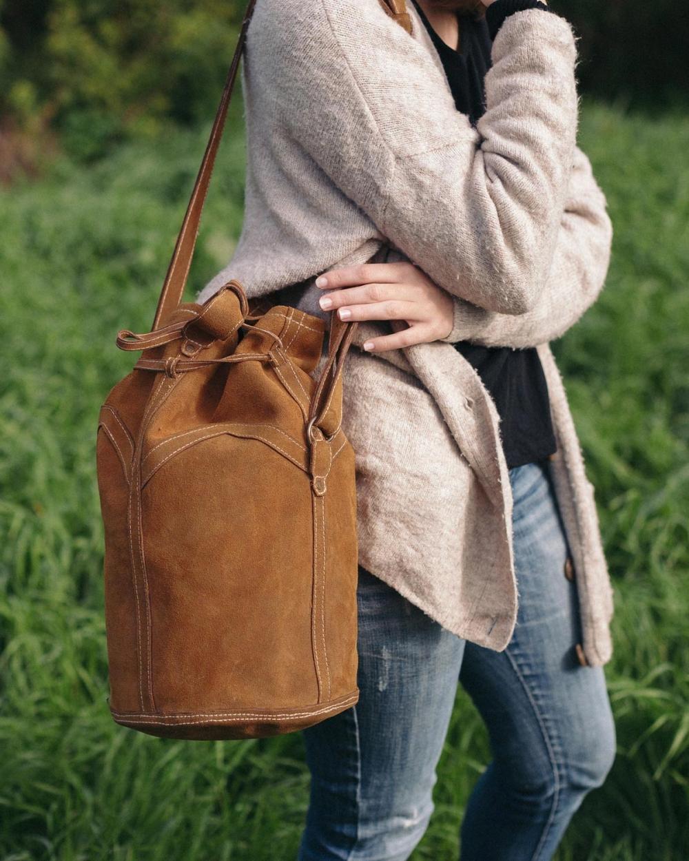 "Leather sack bag ""ROSA"""