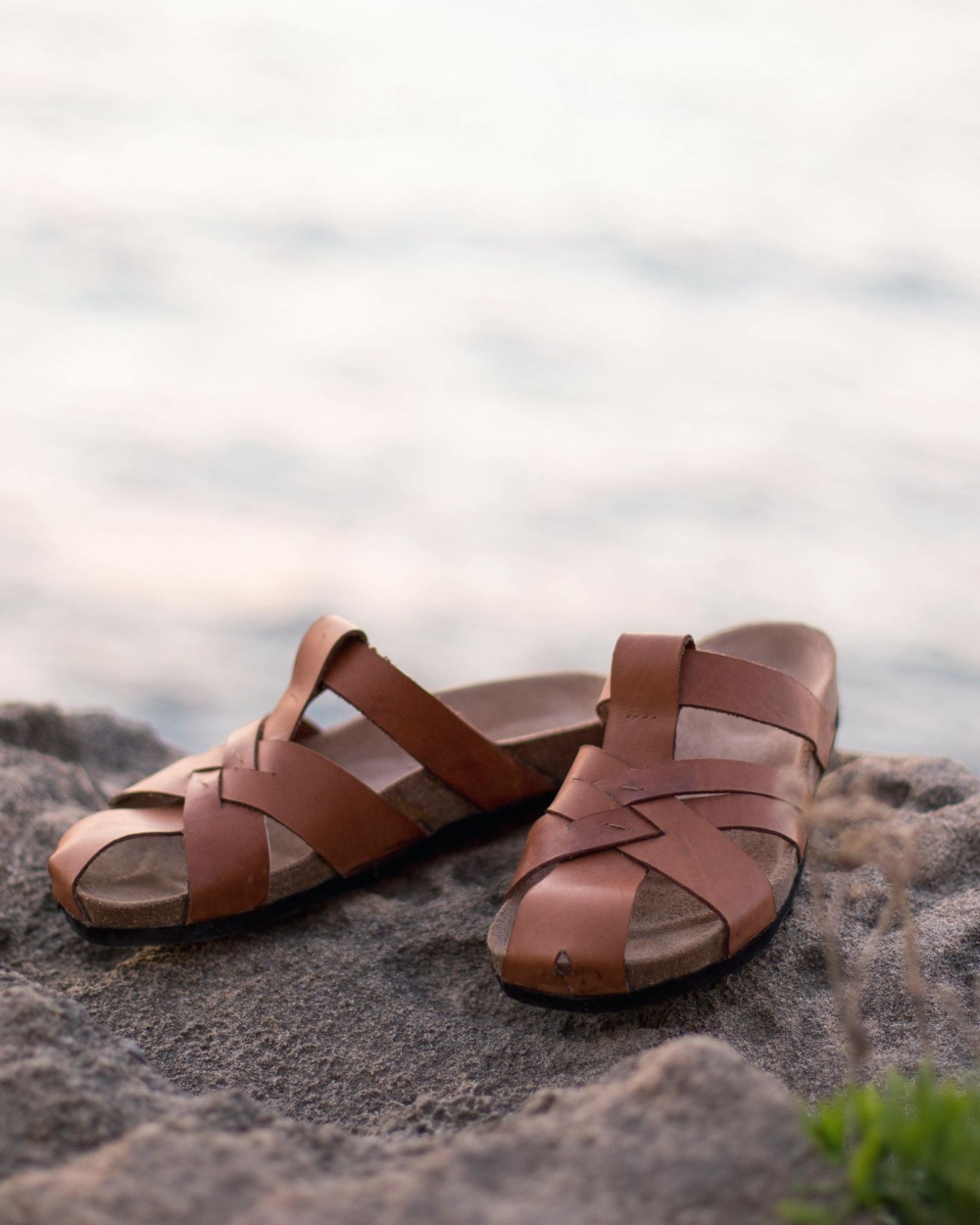 "Leather sandal ""TAGOUNITE"""